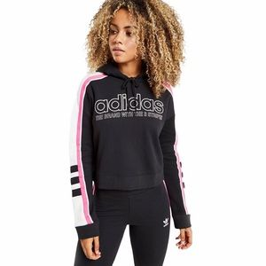 Adidas The Brand With The 3 Stripes Cropped Hoodie
